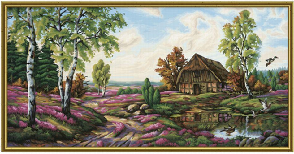 Пошагово рисуем живописная природа