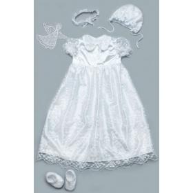 93cecbc441c302d Набор крестильный для девочки с гипюром Модный карапуз. Цена ...