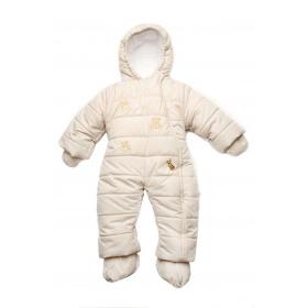 35039fe18993 Модный карапуз Детский зимний комбинезон для новорожденных бежевый